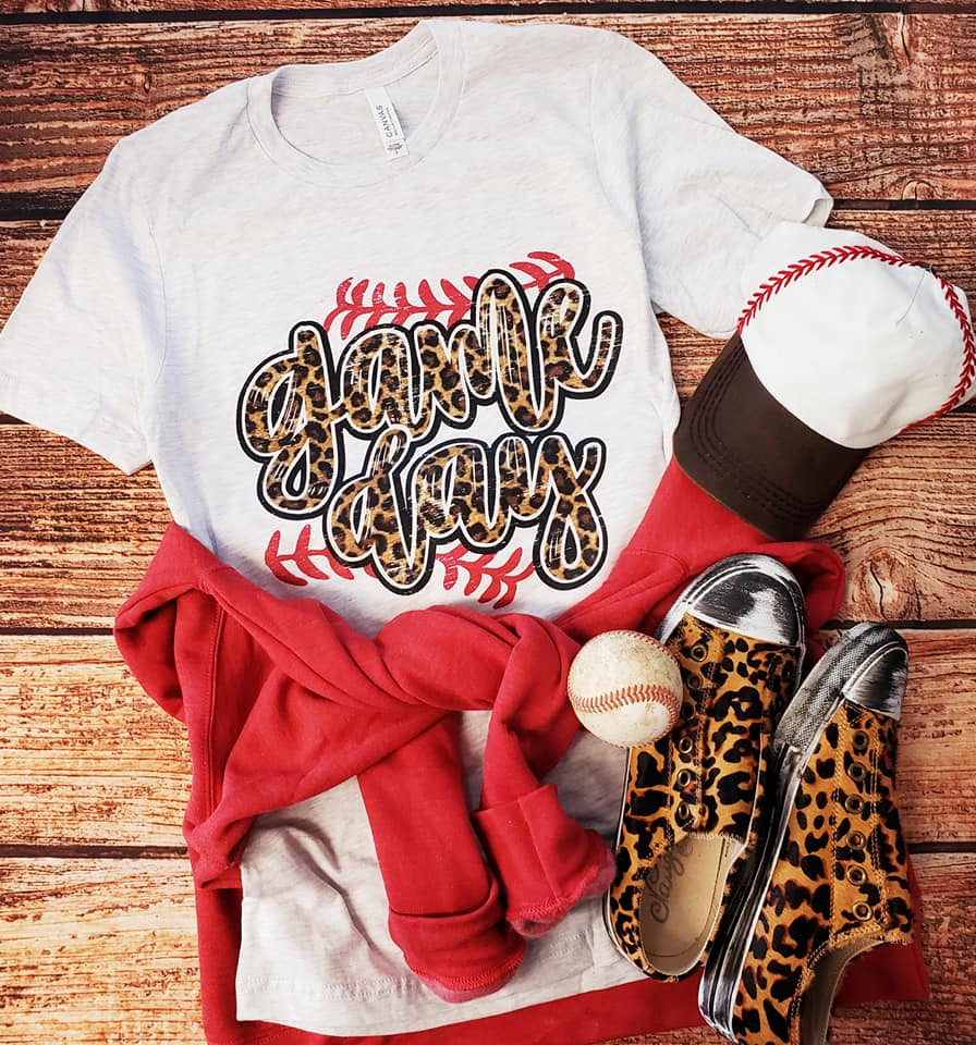 LEOPARD GAME DAY BASEBALL